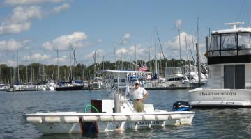 "Pump out boat-Branford river project ""clean water act"""